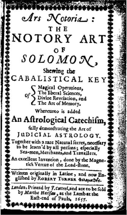 """Cuốn sách """"Notory Art of Solomon"""" được in bằng tiếng Anh vào năm 1657."""