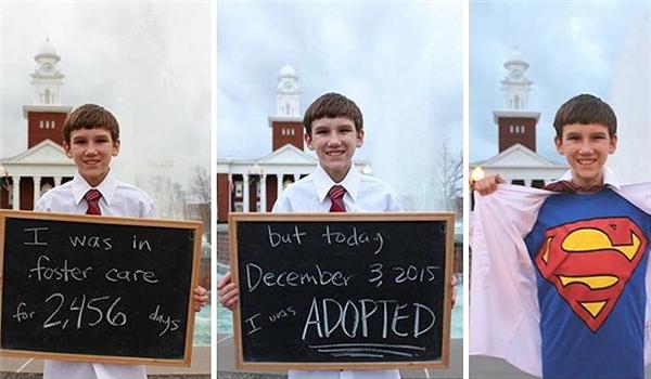 """""""Em đã sống trong nhà nuôi dưỡng tạm thời suốt 2456 ngày (hơn 6 năm rưỡi)... nhưng hôm nay, 3/12/2015, em đã được nhận nuôi."""" (Ảnh: TWR)"""