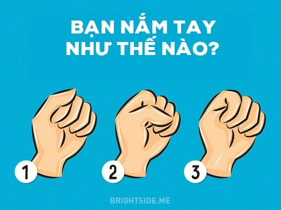 Dựa vào cách bạn nắm tay để đoán tính cách. (Ảnh: Internet)