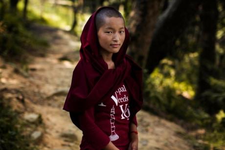 Đây là một ni cô Phật giáo ở Kathmandu, Nepal.