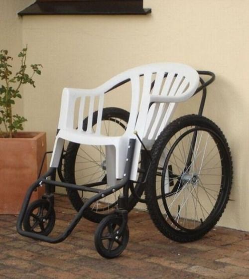 Bạn có nhận ra đây là một chiếc xe lăn? (Ảnh: Internet)