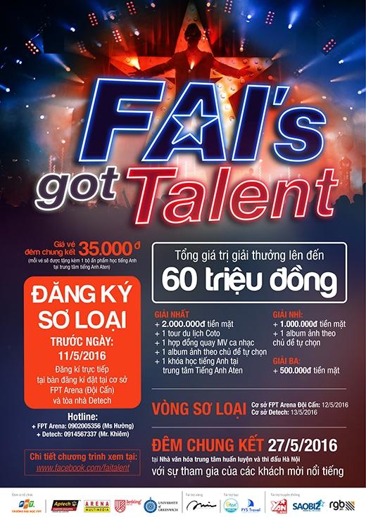 FAI's Got Talent là cuộc thi dành cho sinh viên FAI đang học tại cơ sở Hà Nội.