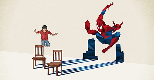 Nhân vật anh hùng khơi gợi niềm đam mê vẽ vời, sáng tạo không giới hạn (Ảnh minh họa).