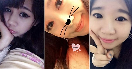 """Một cô gái châu Á trung thành với kiểu tạo dáng ngây thơ, trong sáng khi """"tự sướng"""" (Ảnh: Internet)"""