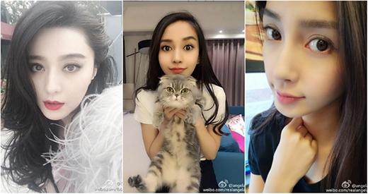 Không chỉ có Phạm Băng Băng (ảnh trái) với làn da đáng mơ ước mà còn có người đẹp AngelaBaby (ảnh phải) với đôi mắt to dễ thương, trong sáng. (Ảnh: Internet)