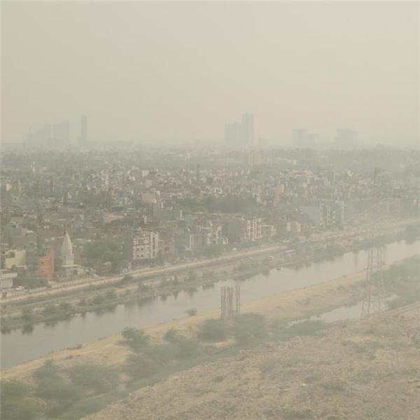 Bụi mù ở Delhi là vô cùng kinh khủng.