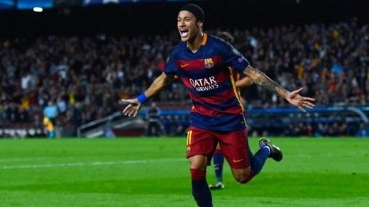 Một tình huống ăn mừng của Neymar sau khi ghi bàn. Ảnh: Internet.