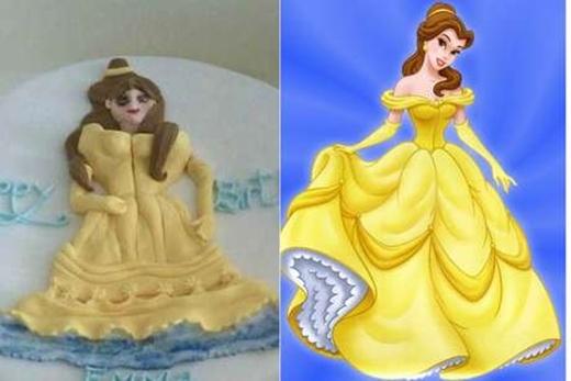 Có vẻ như các nàng công chúa được nhiều người ưu ái chọn làm hình mẫumỗi khi làm bánh.(Ảnh: Internet)