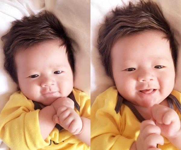 """""""Chủ vựa gạo"""" nhà Elly lúc vừa tròn 3 tháng tuổi, trông cậu bé cực kì bụ bẫm và đáng yêu. - Tin sao Viet - Tin tuc sao Viet - Scandal sao Viet - Tin tuc cua Sao - Tin cua Sao"""