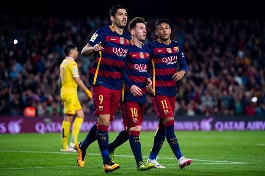 Bộ ba Messi - Suarez - Neymar đang nắm giữ 90% sức mạnh của Barcelona.