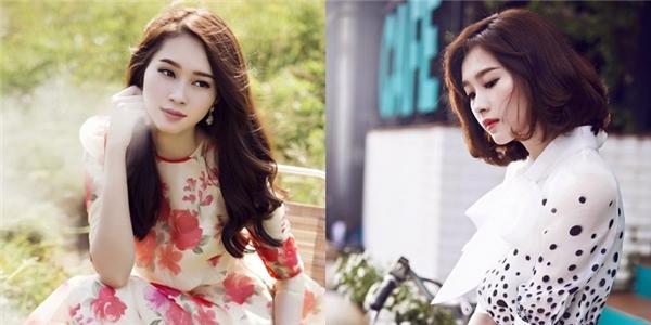Mùa hè năm 2015, Hoa hậu Đặng Thu Thảo cũng quyết định cắt phăng mái tóc dài quen thuộc để trải nghiệm kiểu tóc bob hiện đại. Quả thật, kiểu tóc mới đã mang đến vẻ ngoài trẻ trung hơn rất nhiều cho giai nhân 9X.