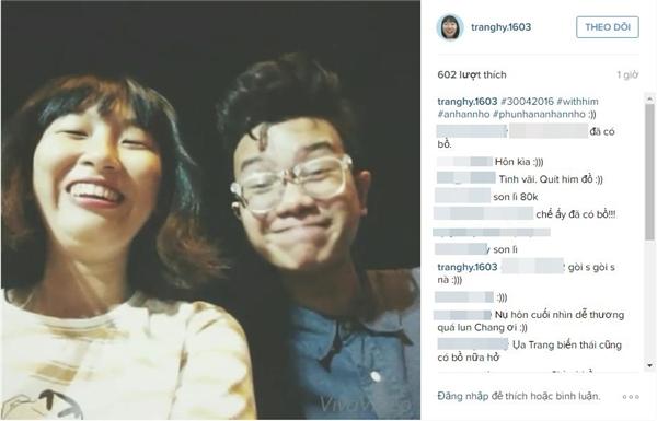 Những dòng tâm sự đầy tình tứ của cả hai trên instagram của bạn trai Trang Hý. (Ảnh chụp màn hình)