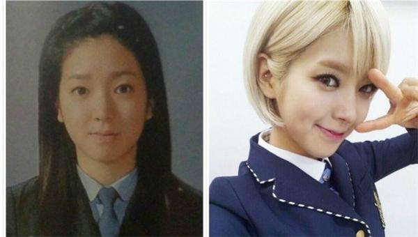 Thật khó để có thể nhìn thấy hình ảnh Choa (AOA) để tóc ngắn trông hiền lành thế này. So với hình ảnh hiện nay, cô nàng trở nên cá tính hơn rất nhiều.