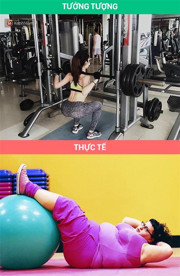 Bởi vì không phải ai đi tập gym người cũng đẹp sẵn rồi nha!