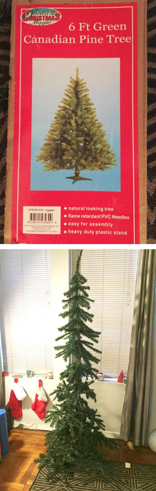 """Vì cây thông nhân tạo giữ được đến mấy năm nên các nhà sản xuất lỗ nặng. Vì vậy họ đã nghĩ ra cách """"chơi khăm"""" người mua thế này đây?! (Ảnh: blazernyc)"""