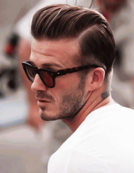 Kiểu tóc chuốt undercut mang lại vẻ ngoài cá tính, lịch lãm nhưng không làm mất đi sự trẻ trung của Beckham.