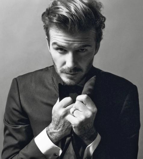 David Beckham trong kiểu tóc Quiff.