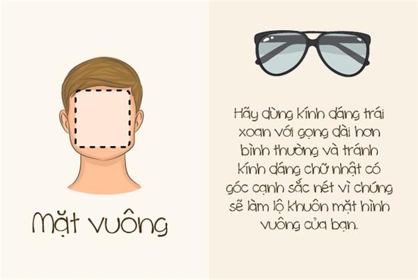 Với mặt vuông, mục đích của cặp kính râm sẽ là giúp kéo dài khuôn mặt hơn. (Ảnh: Bright Side)