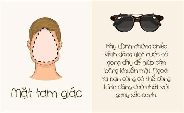 Khuôn mặt tam giác cần một cặp kính gọng dày để giúp phần trên khuôn mặt nở nang hơn. (Ảnh: Bright Side)