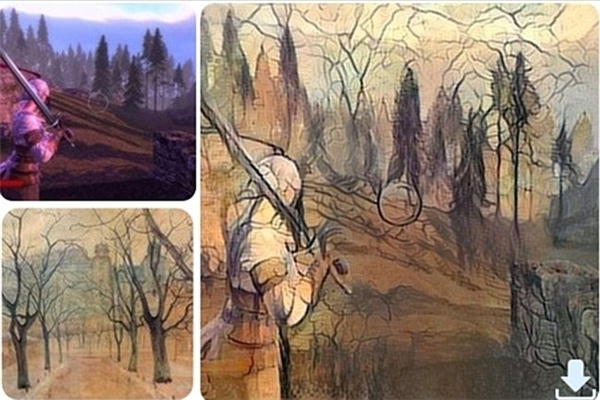 Hình ảnh từ trong game và bức vẽ tay cũng tạo nên một bức tranh đẹp, kết hợp rất hài hòa.