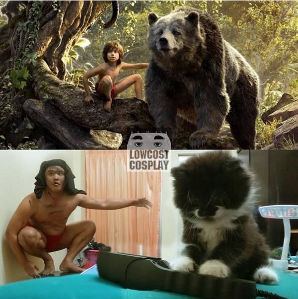 Baloo... sao lại thành ra thế kia nhỉ?! (Ảnh: Lowcostcosplay)