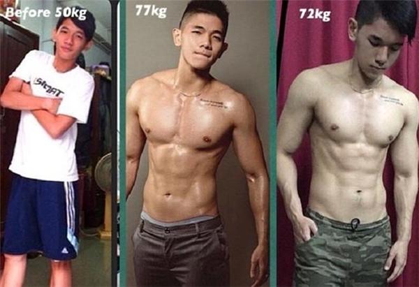 Không chỉ các cô gái, những chàng trai này cũng khiến nhiều người choáng sau khi lột xác nhờ gym