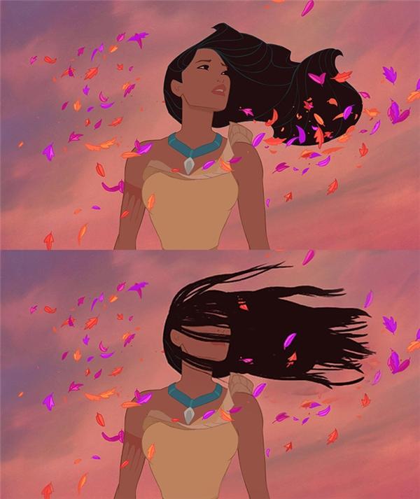 Nói thật đi, có tóc dàinào ra gió mà không muốn cắt phăng mái tóc của mình đi không? Pocahontas cũng vậy.