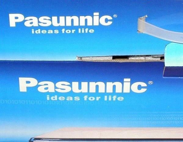Người ta thậm chí còn đăng ký thương hiệu Pasunnic. Thoạt nhìn, nhiều người sẽ thấy nó hao hao giống Panasonic.