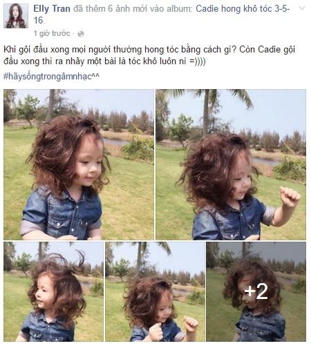 Elly Trần hào hứng khoe ảnh con gái Cadie Mộc Trà. - Tin sao Viet - Tin tuc sao Viet - Scandal sao Viet - Tin tuc cua Sao - Tin cua Sao