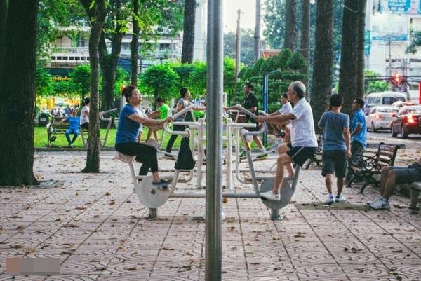 Một buổi sáng tràn đầy năng lượng ở công viên. (Ảnh: Trí Thức Trẻ)