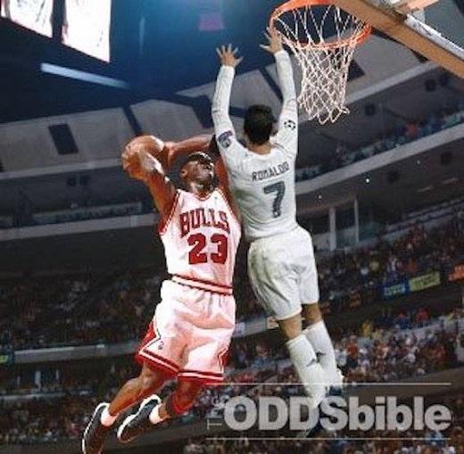 CR7 có mọi điều kiện để thi đấu ở NBA, đó là chiều cao, khả năng bật nhảy và nhất là đam mê... chơi bóng bằng tay.
