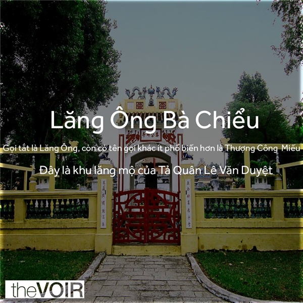 Thật ra, đây là lăng thờ Tả Quân Lê Văn Duyệt và do tục lệ kiêng cử tên, nên thường gọi là Lăng Ông. (Ảnh: TheVOIR)