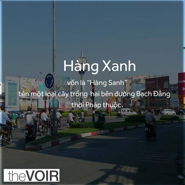 Hàng Xanh là cách đọc chệch từ Hàng Sanh mà thành. (Ảnh: TheVOIR)