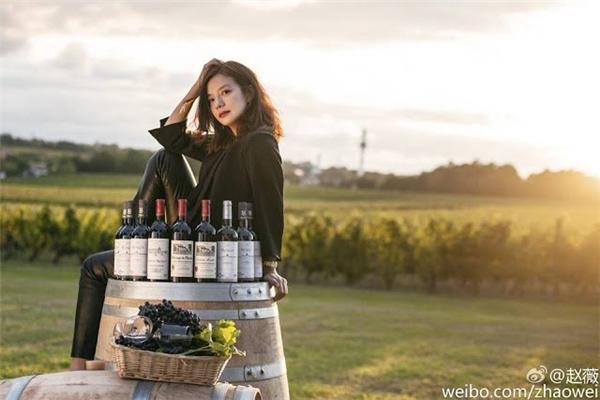 Triệu Vy là gương mặt đại diện cho thương hiệu rượu vang của chính mình. (Ảnh: Internet)