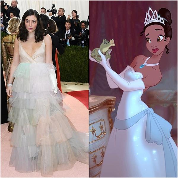 Vẻ ngoài ngọt ngào, nhẹ nhàng của Lorde làm nhiều người nhớ đến công chúa Tiana.