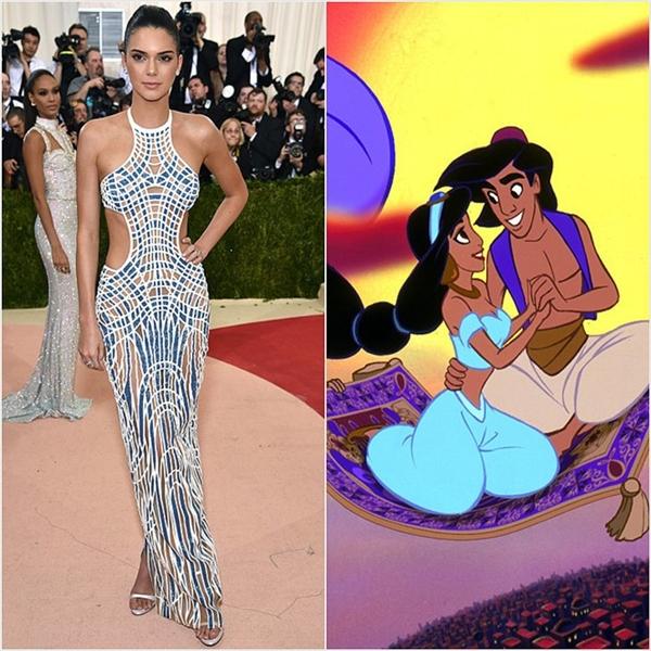 Kendell Jenner và sự gợi cảm, quyến rũ tương đồng với Jasmine.