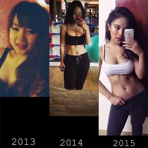 Từ năm 2013 tới 2015, Phương Thảo đã có sự thay đổi rõ rệt. Được biết, ban đầu để giảm cân, cô phải tập khá nặng, từ 3 - 4 giờ mỗi ngày.