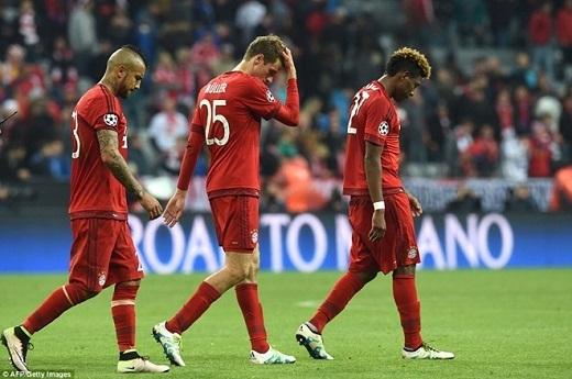 Bayern đã có một trận đấu hay, nhưng lại không thắng được điều luật tồn tại suốt hơn nửa thế kỉ. Ảnh: Getty Images.