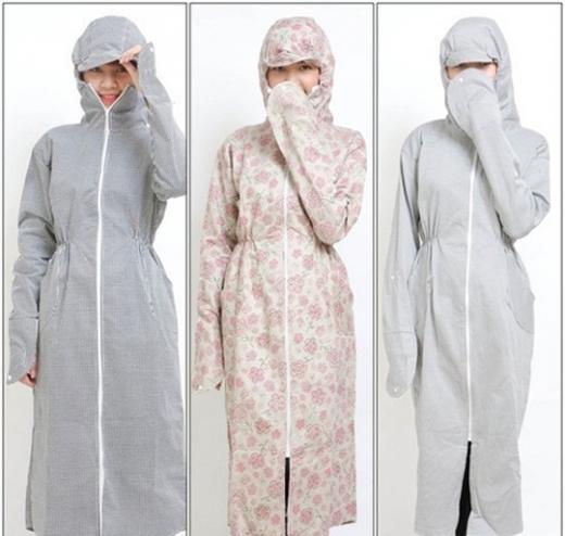 Khi chọn váy, áo chống nắng chị em nên chọn loại vải dày và có tỷ lệ cotton cao.