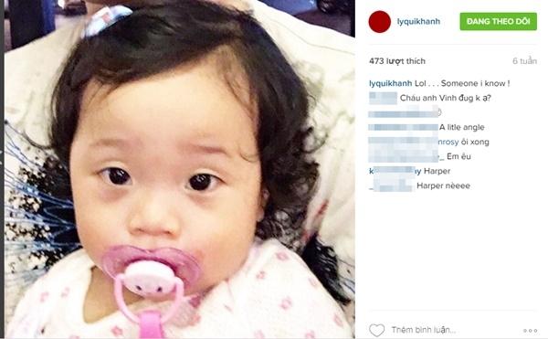 Bạn thân của Quang Vinh - NTK LýQuí Khánh cũngchia sẻ hình ảnh của bé trên tài khoản Instagram. - Tin sao Viet - Tin tuc sao Viet - Scandal sao Viet - Tin tuc cua Sao - Tin cua Sao