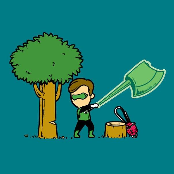 Với chiếc nhẫn thần thánh, có thể hô biến ra mọi thứ, Green Lantern quyết dâng hiến cuộc đời này cho nghề lâm tặc.