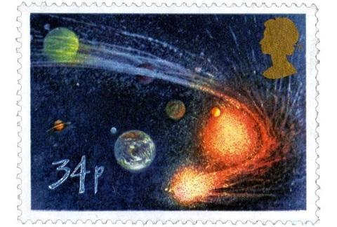 Sao chổi Helley xuất hiện trên tem thư