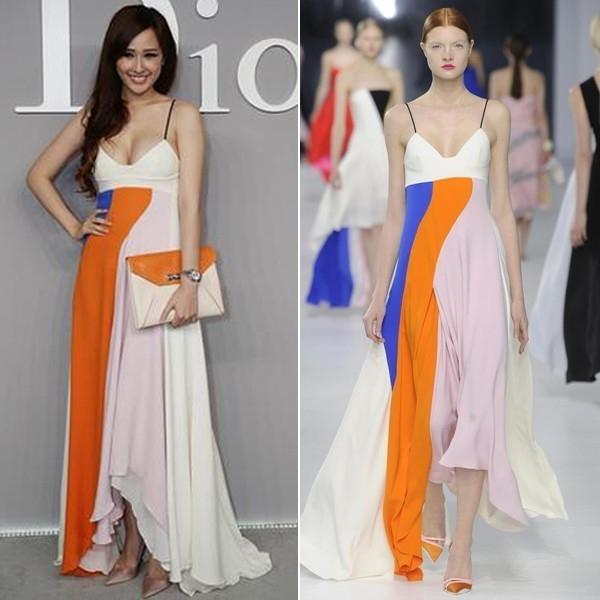 Sự khác biệt một trời một vực của Mai Phương Thúy và người mẫu trình diễn trong một thiết kế đắt đỏ của Dior.