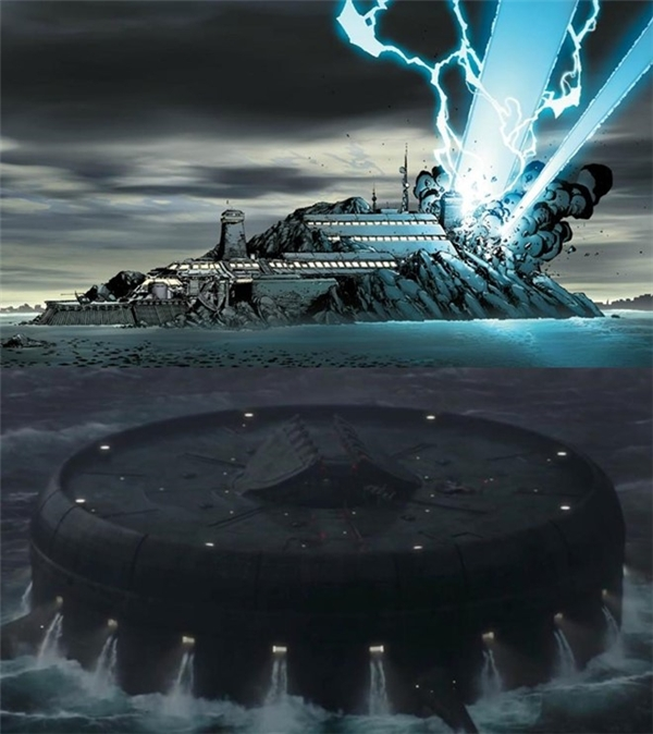 The Raft: Nhóm siêu anh hùng ủng hộ Captain America sau khi giữ chân Iron Man tại nước Đức đều bị bắt giữ và tạm giam tại The Raft - nhà tù nghiêm ngặt nằm bên dưới mực nước biển. Địa danh từng xuất hiện trong loạt truyện về Người Nhện và rất quen thuộc đối với các fan của Marvel bởi nó từng là nơi giam cầm nhiều siêu tội phạm khét tiếng như Doctor Doom, Baron Zemo, Crossbones…