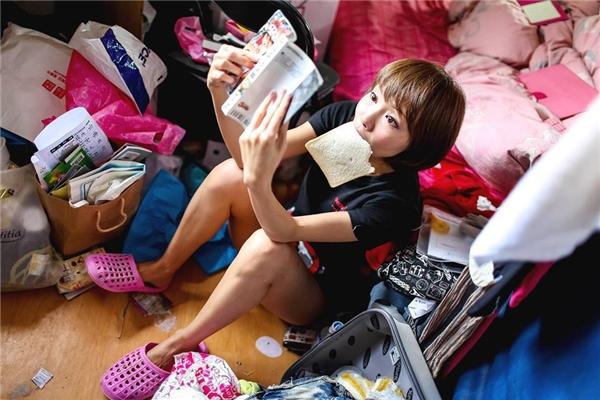 Đây là cô gái luộm thuộm nhất thế giới chăng?