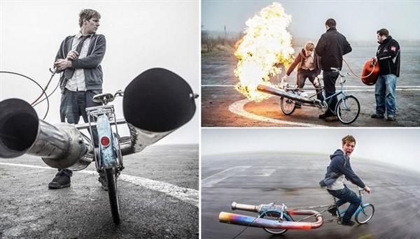 xe đạp phản lực - colin furze