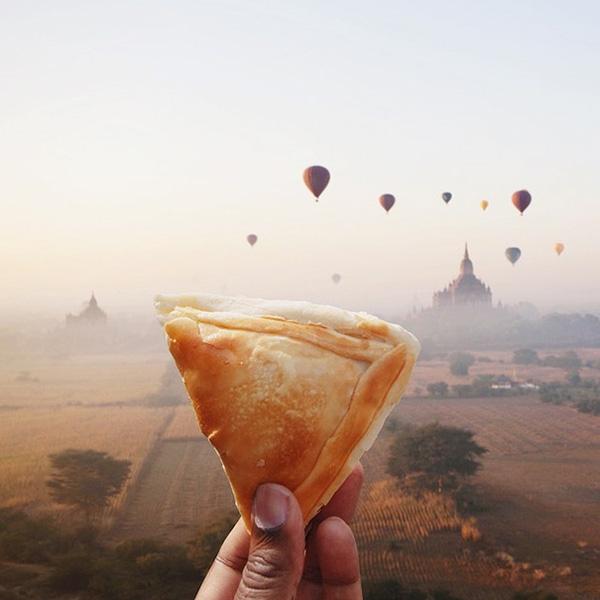 Puff - món bánh ngàn lớp của Myanmar.