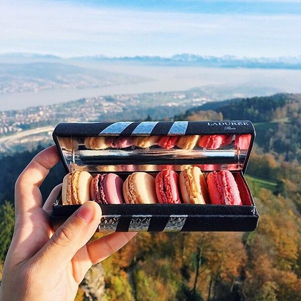 Bánh Macaron nổi tiếng của Laduree tại Thuỵ Sĩ.