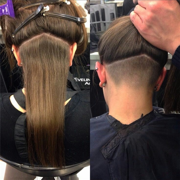 Tóc undercut dành cho phái đẹp thường được ẩn giấu bên trong lớp tóc dày. Chính vì thế, bạn vẫn có thể thoải mái thử nghiệm chúng mà không phải lo ngại một ánh nhìn quá xét nét.