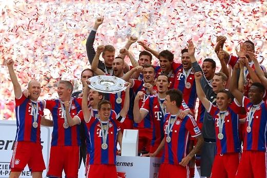 Bayern Munich vừa có chức vô địch Bundesliga thứ 4 liên tiếp